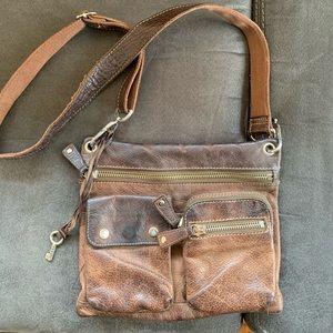 Vintage Fossil Leather Crossbody Purse